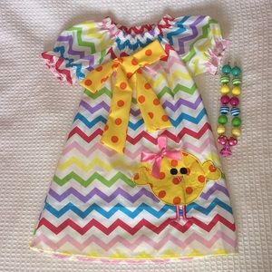 🐰 Girls Size S Easter/Spring Boutique Dress 🐰
